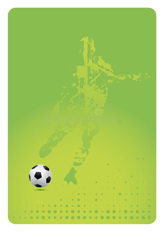 Soccer background (vector). Detailed vector soccer ball with player royalty free illustration