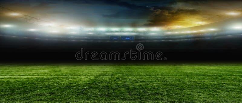 Soccer bal. football . On the stadium. stock image