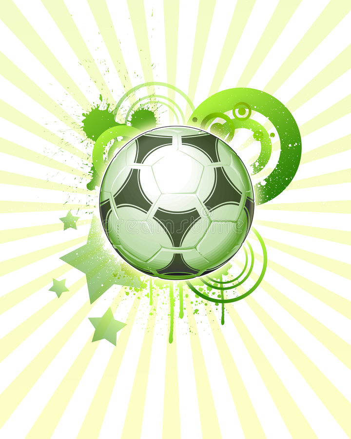 Download Soccer ball 06 stock vector. Illustration of drips, football - 6494876