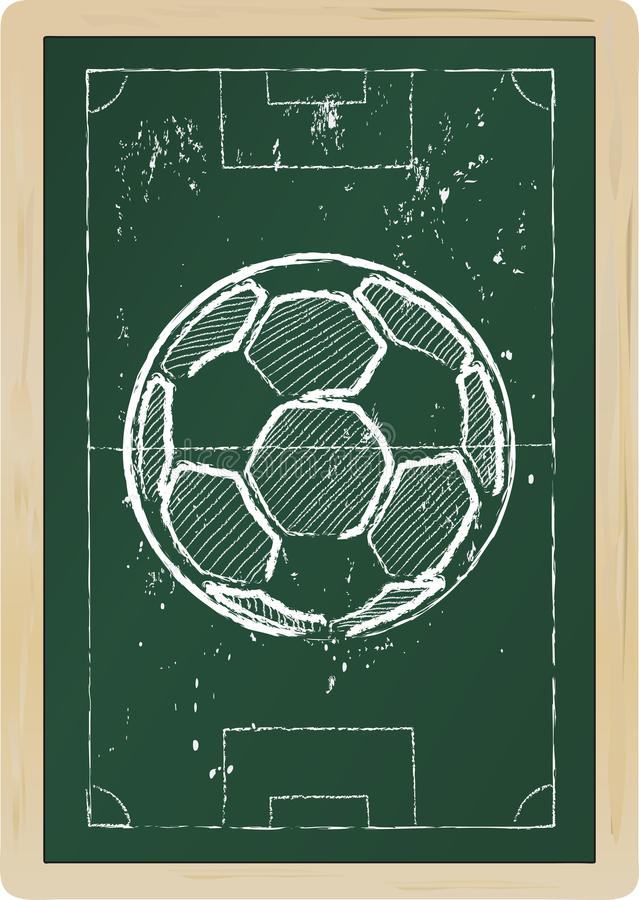 Download Soccer ball stock vector. Image of play, tactics, isolated - 25132767