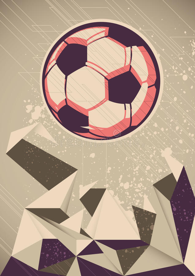 Download Soccer ball. stock vector. Image of duel, backdrop, graphic - 26345728