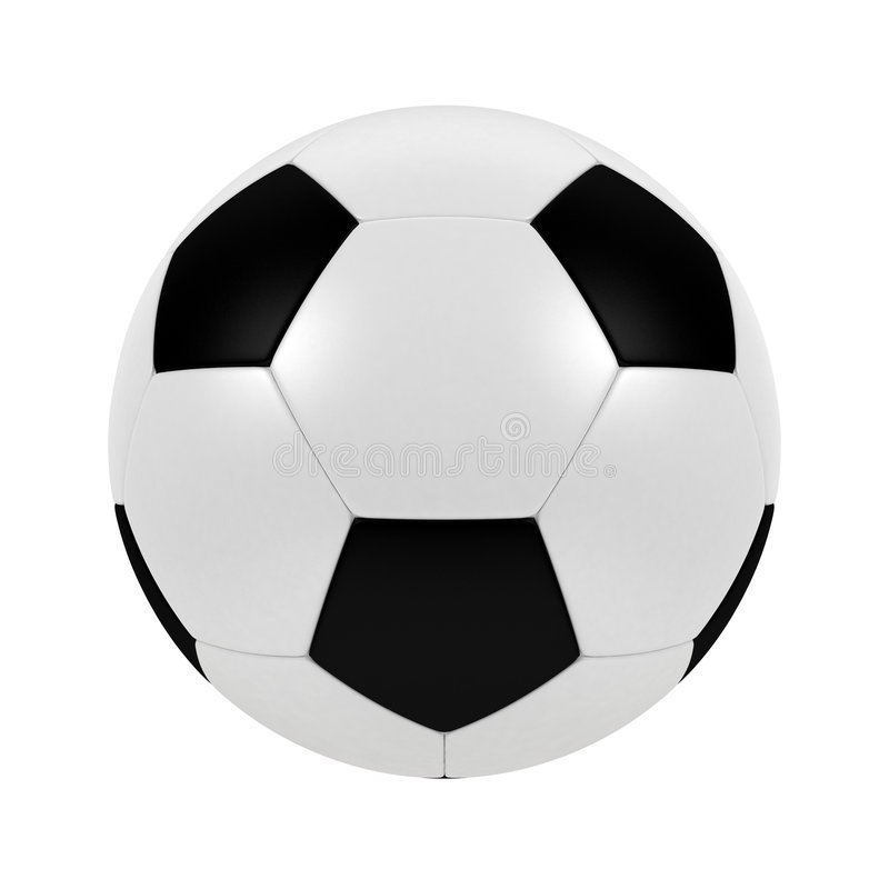 Soccer ball. 3d illustration of soccer ball. A clipping path is included for easy editing