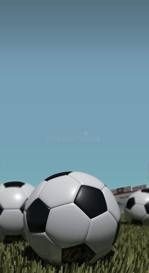 Soccer Ball. On the football field stock photos
