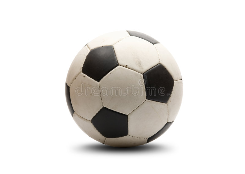 Soccer ball. On white background stock photography