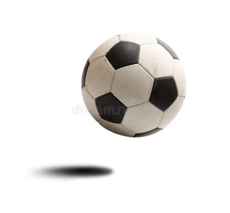 Soccer ball. Bounce along white background stock image