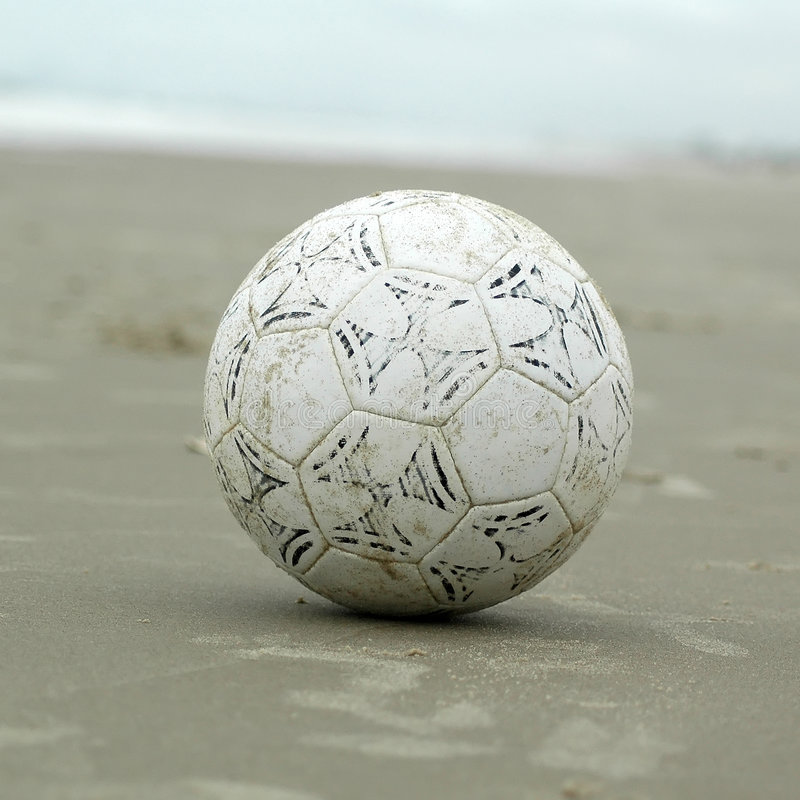 Soccer ball. Beach soccer ball. Close-up stock images