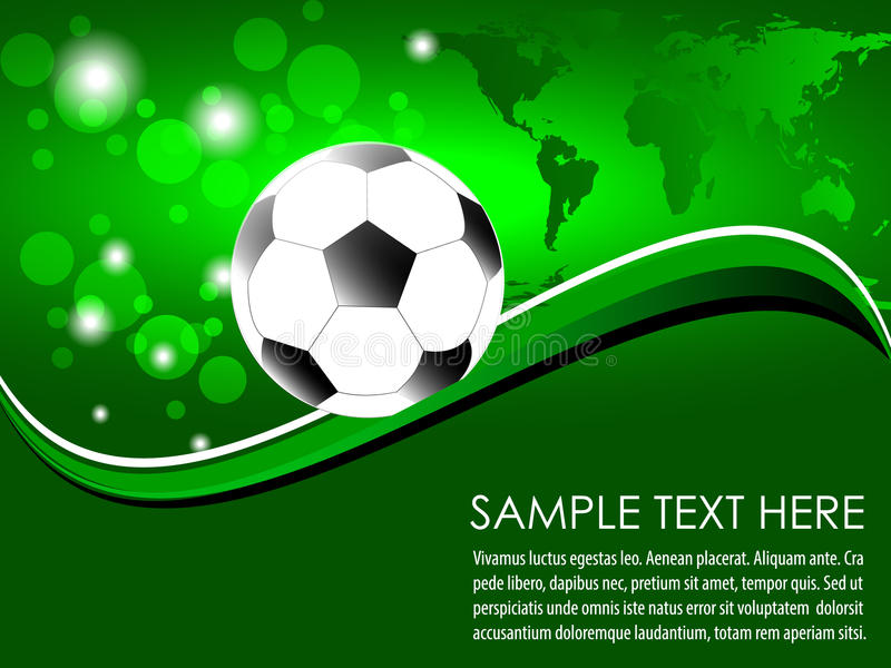 Download Soccer Ball With Abstract Background Stock Vector - Image: 38892727