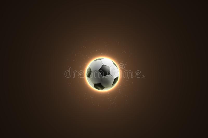 Soccer ball on an abstract background stock photography