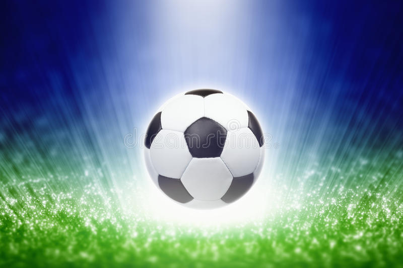 Download Soccer ball stock image. Image of spotlight, background - 34887617