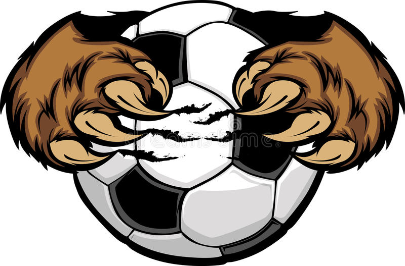 Download Soccer Ball With Bear Claws Image Royalty Free Stock Photography - Image: 20961267