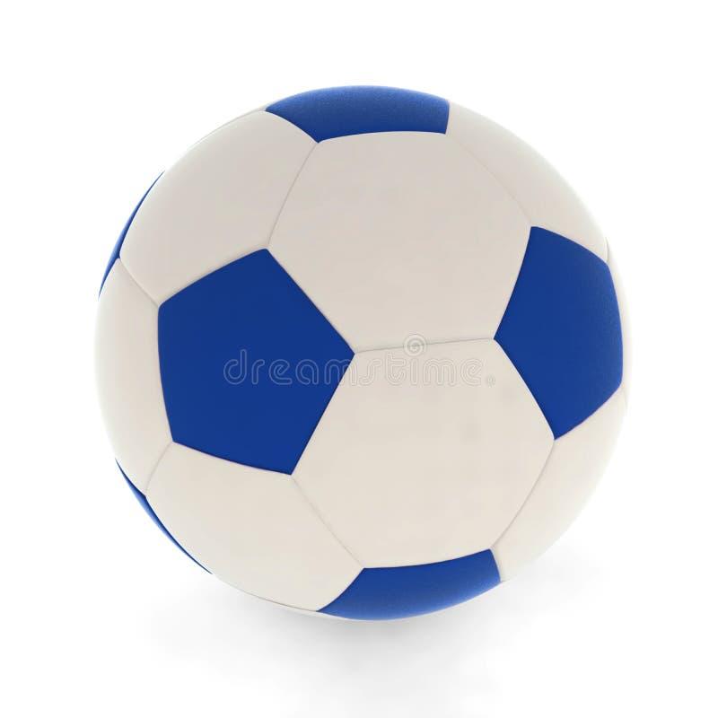 Soccer ball blue. Sport isolated play football vector illustration