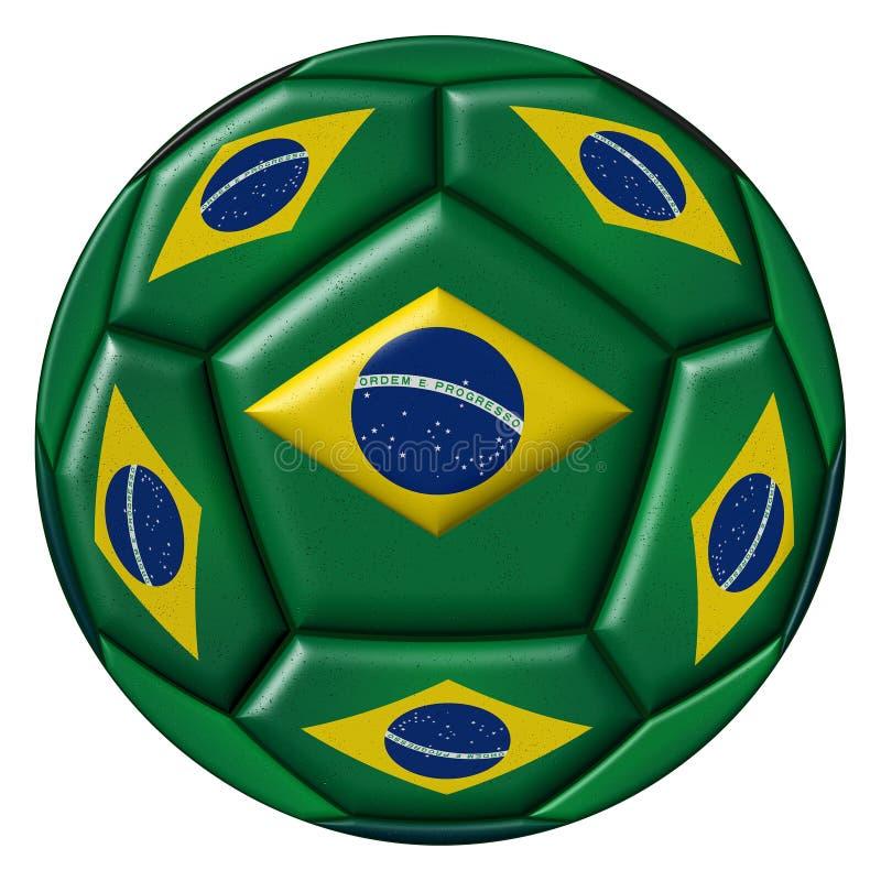 Soccer ball with Brazilian flag on white background. Soccer ball with Brazilian flag isolated on white background vector illustration