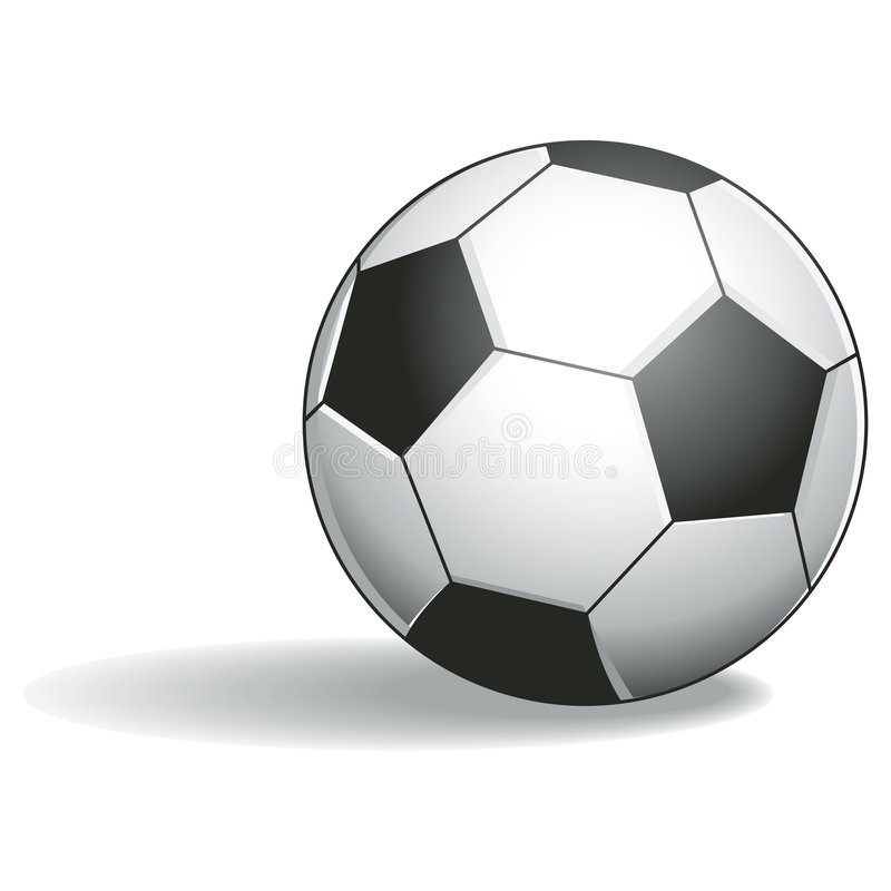 Soccer Ball with clipping path. Illustration with clipping path royalty free illustration