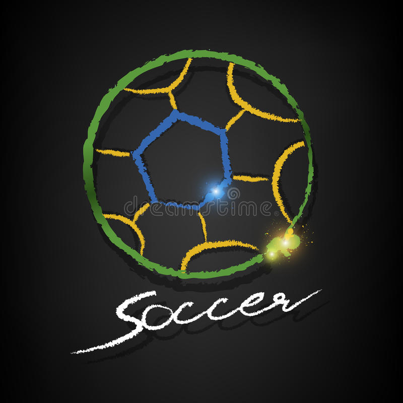 Download Soccer Ball Drawing On A Blackboard Stock Vector - Image: 40692685