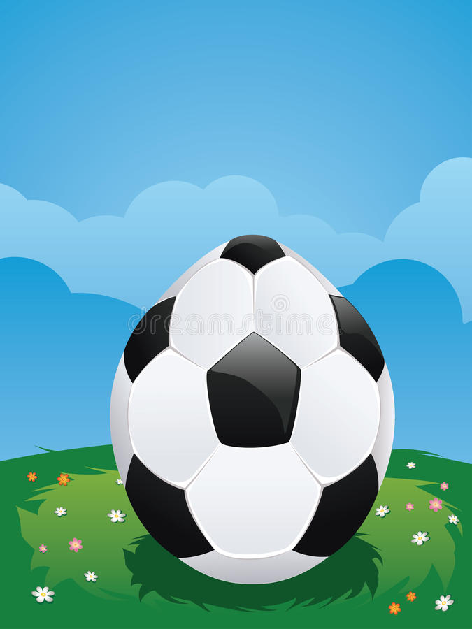 Soccer Ball Egg royalty free illustration