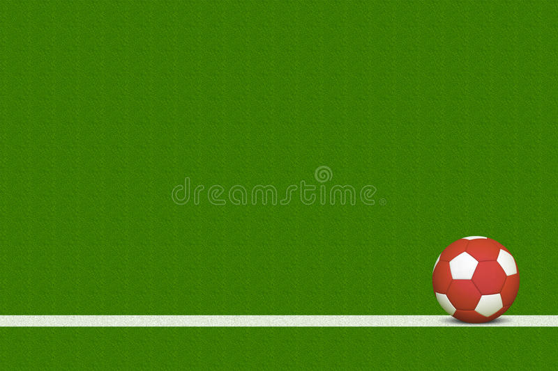 Soccer Ball On Field Stock Image