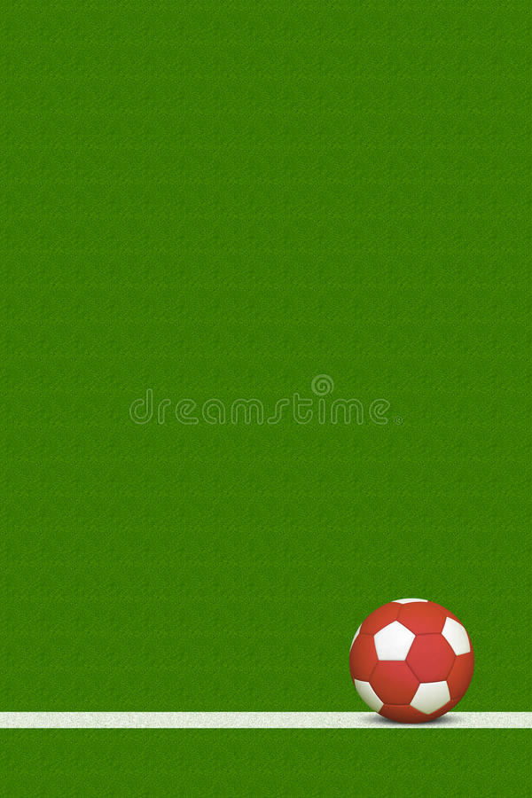 Download Soccer Ball on Field stock illustration. Illustration of object - 24408524