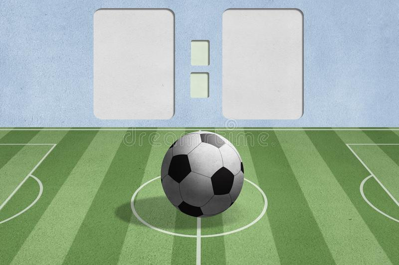 Download Soccer Ball On The Field With Score Background Stock Photo - Image: 24981170