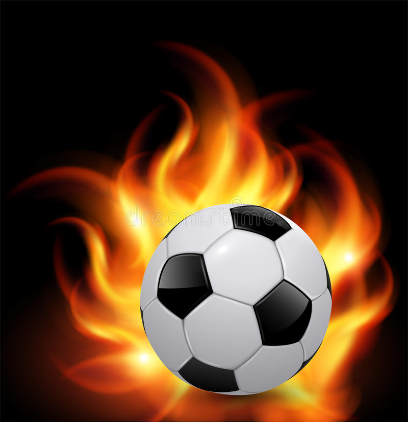Download Soccer ball on fire stock vector. Image of heat, equipment - 24729454