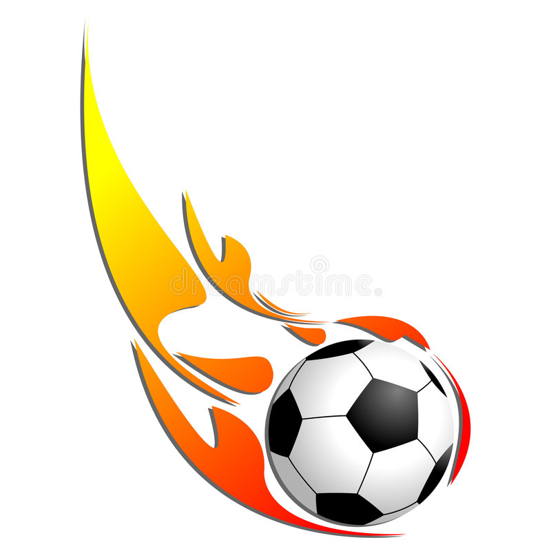 Download Soccer ball on fire stock vector. Image of warm, vector - 5289669
