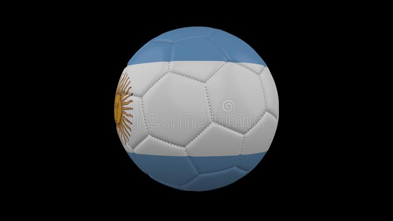 Soccer ball with flag Argentina , 3d rendering vector illustration