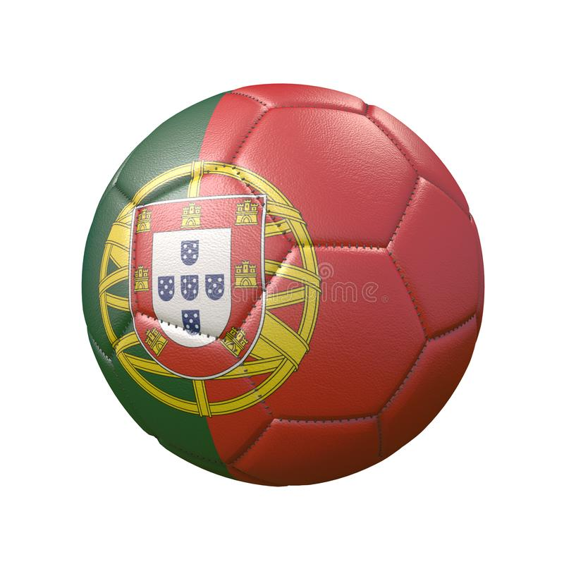 Isolated Soccer Ball, Or Football, With The Country Flag Of Portugal Stock Illustration ...