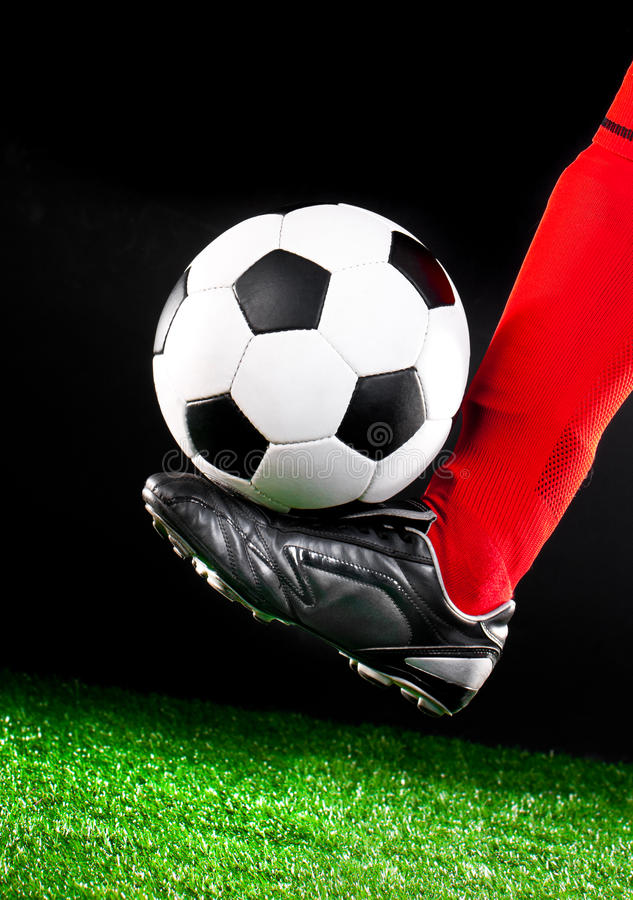 Download Soccer Ball On The Football Field Stock Image - Image: 25324481