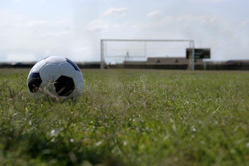 Soccer ball - Football and Goal stock photo