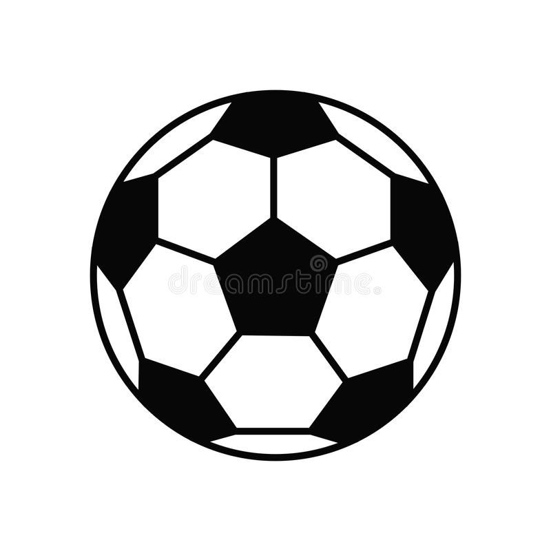 soccer ball vector icon flat illustration stock vector rh dreamstime com soccer ball vector drawing soccer ball vector art