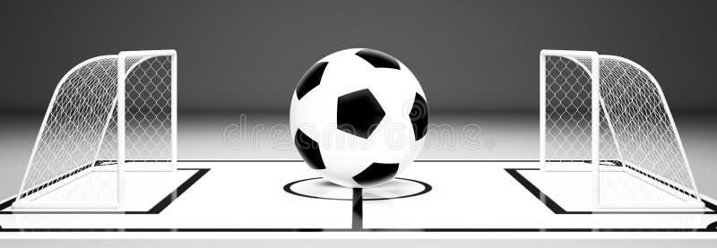 Soccer ball gate vector illustration