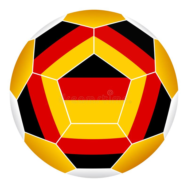 Soccer ball with German flag. Isolated on white background vector illustration