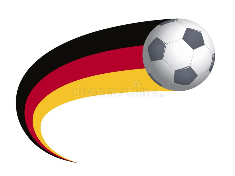 Soccer ball with Germany flag stock photo