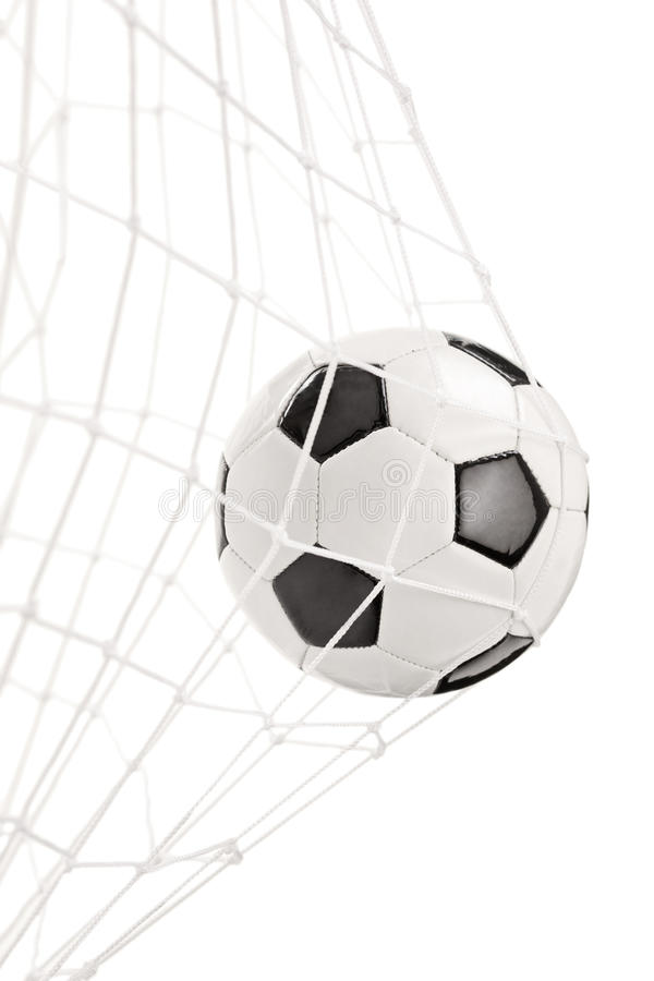 Download Soccer Ball In A Goal Net Stock Photography - Image: 31761262
