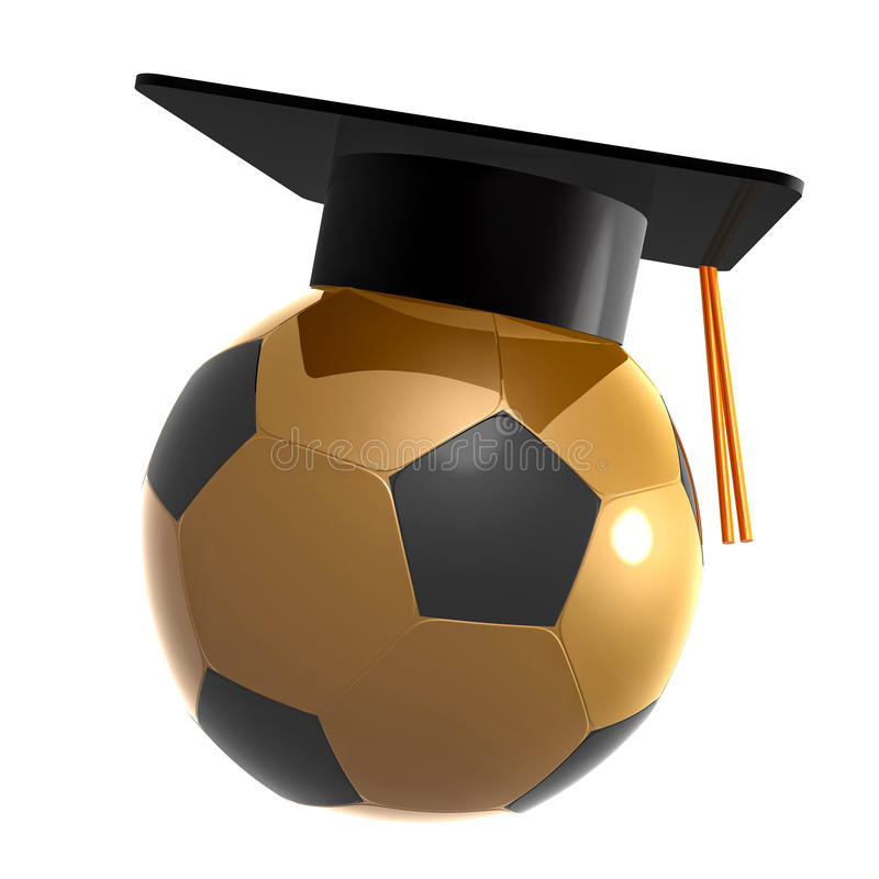 Soccer Ball Graduation Celebration Icon Stock Images