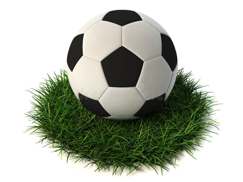 Download Soccer ball on grass stock illustration. Illustration of professional - 10490966