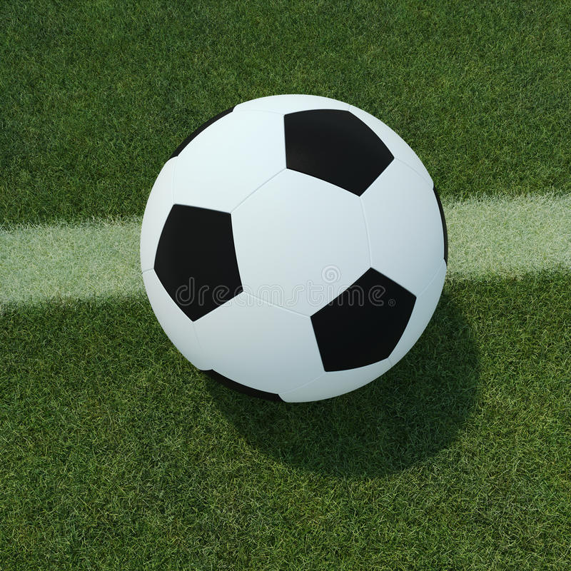 Download Soccer ball on grass stock illustration. Illustration of ball - 32869105