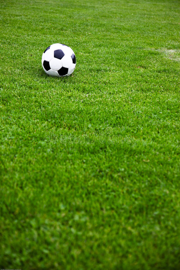Download Soccer Ball On A Grassy Field Stock Image - Image of ball, athletic: 10277445