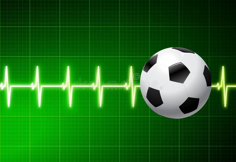 Soccer Ball with Green Pulse vector illustration