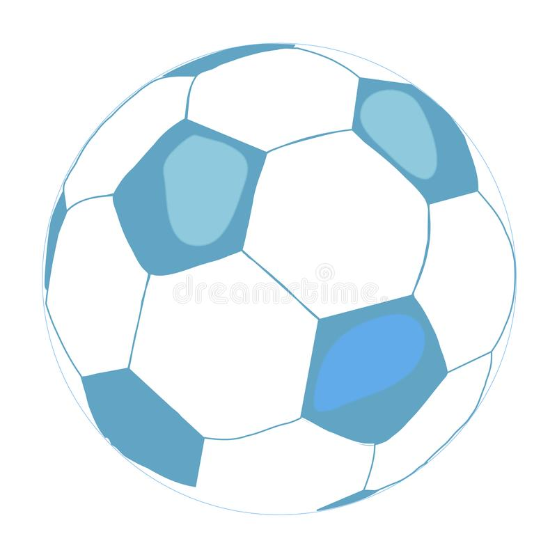 Soccer ball icon. Flat illustration on white background. Equipment for sport, healthy lifestyle and physical activity. stock illustration