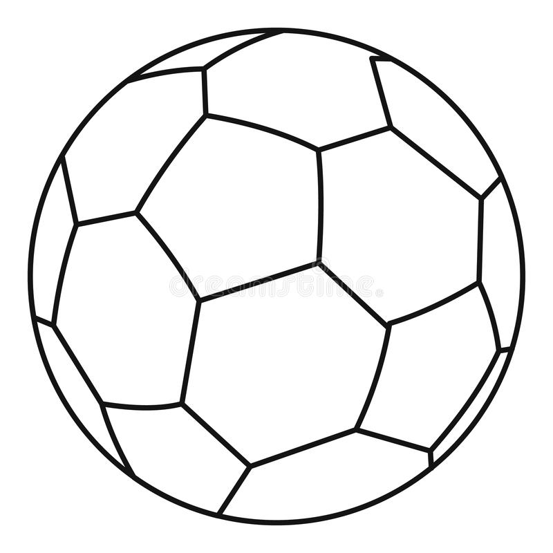 Soccer ball icon, outline style royalty free illustration