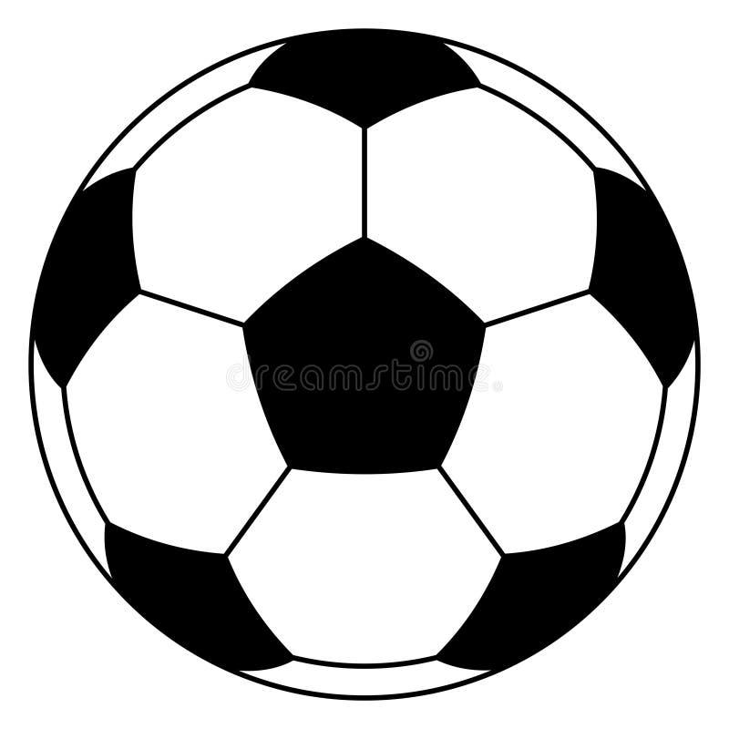 Soccer ball illustration royalty free stock photos