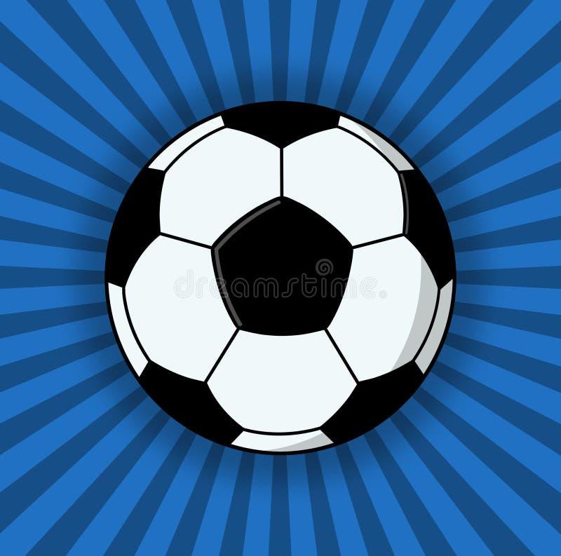 Soccer Ball Illustration On Blue Background royalty free illustration
