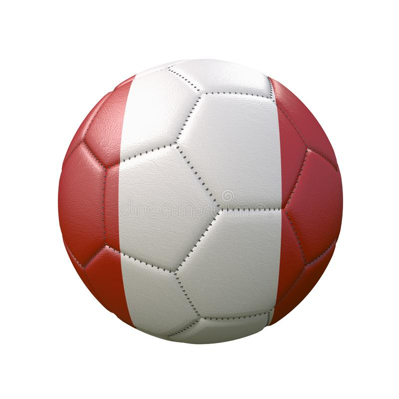 Free Soccer Ball In Flag Colors Isolated On White Background Royalty Free Stock Images - 160985079