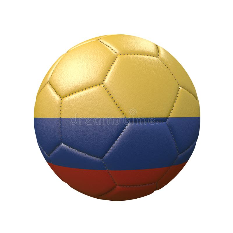 Free Soccer Ball In Flag Colors Isolated On White Background Royalty Free Stock Photography - 160985447