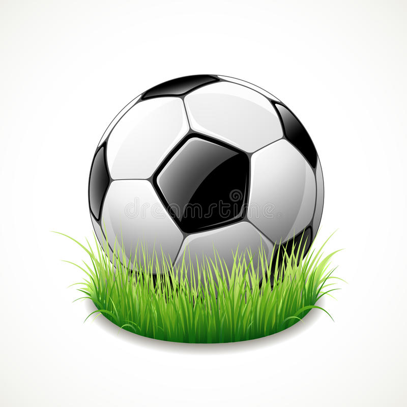 Download Soccer ball, isolated stock illustration. Image of match - 25289813