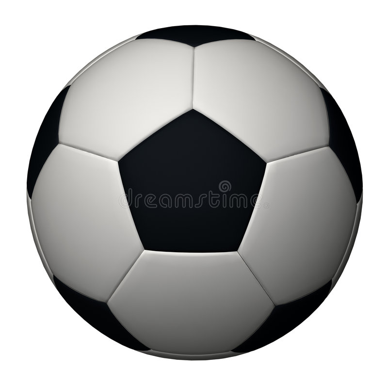 Soccer ball isolated royalty free illustration