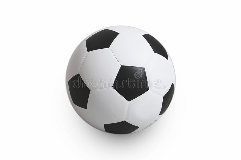 Soccer ball on isolated. with clipping path stock images
