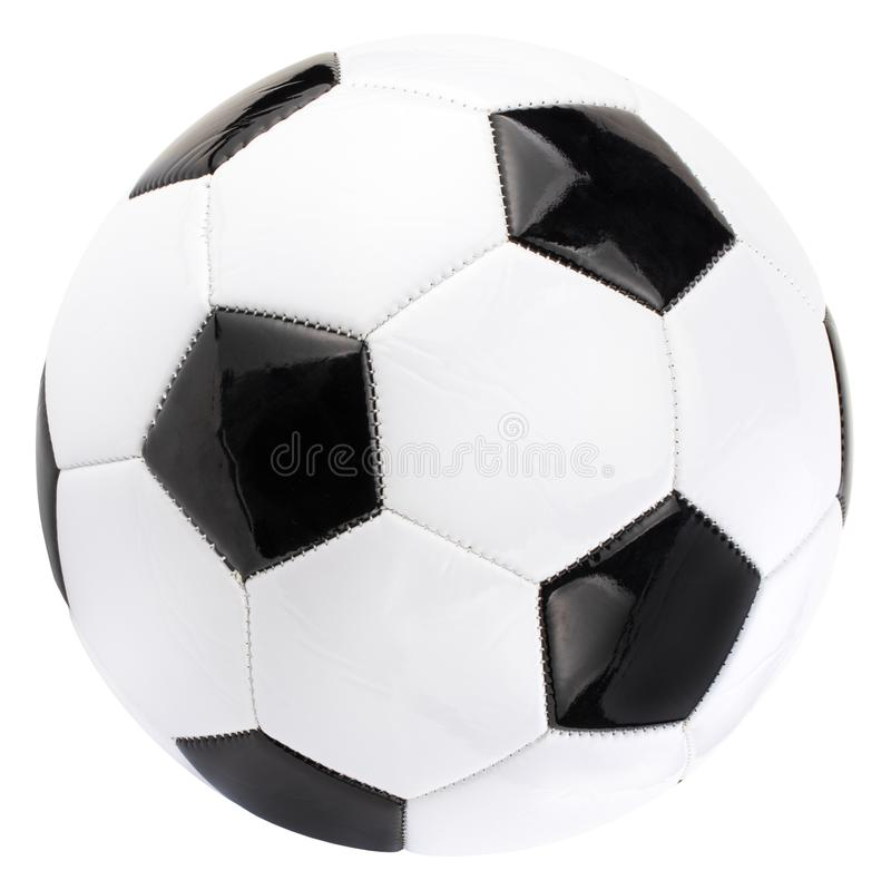 Soccer ball isolated on white background with clipping path.  royalty free stock photo