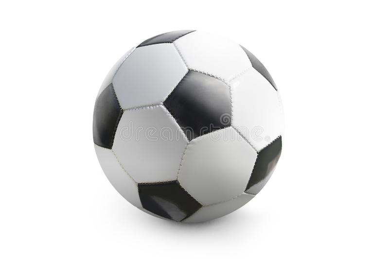 Soccer ball isolated in white background royalty free stock images
