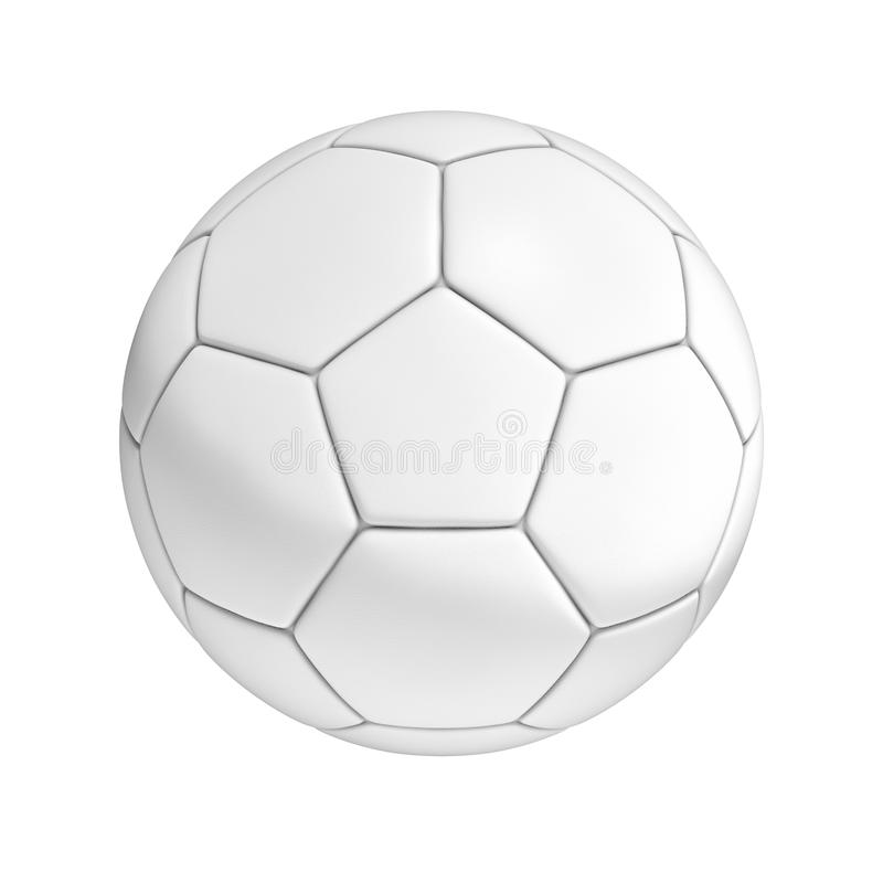 Soccer ball isolated on white background stock illustration